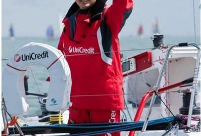 Marco Nanni il 9 febbraio a Molfetta per la sua regata intorno al Mondo