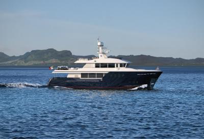 Cantiere Delle Marche prime foto dell'explorer Yacht 102'