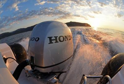 Honda BF 100, la prova