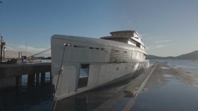 A La Spezia lo scafo del MY 56 metri Voyager di Perini Navi