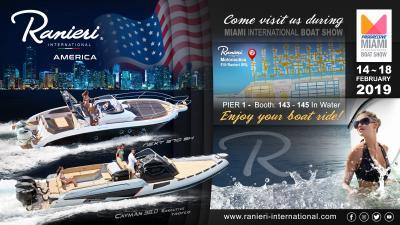 Ranieri International, debutto al Miami International Boat Show