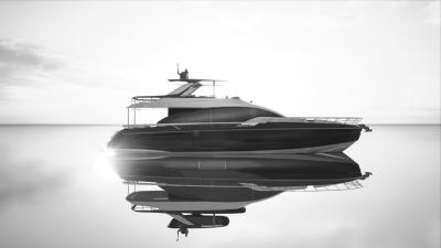 Azimut 78 Fly: anima in carbonio