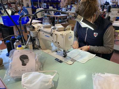 Veleria San Giorgio al via la produzione di mascherine chirurgiche