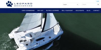 Nuovo sito web per i catamarani Leopard Brokerage