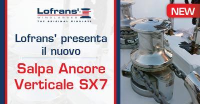 Lofrans' presenta il nuovo salpa ancore SX7
