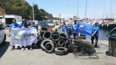 A Cagliari raccolti 2.000 kg di Pneumatici Fuori Uso in mare