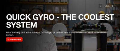 "Completata la campagna ""Quick Gyro: the coolest system"""