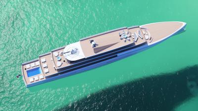 Fincantieri 106 metri Mirage, miraggio in alto mare